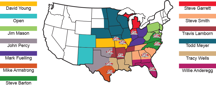 Sales Territories Map